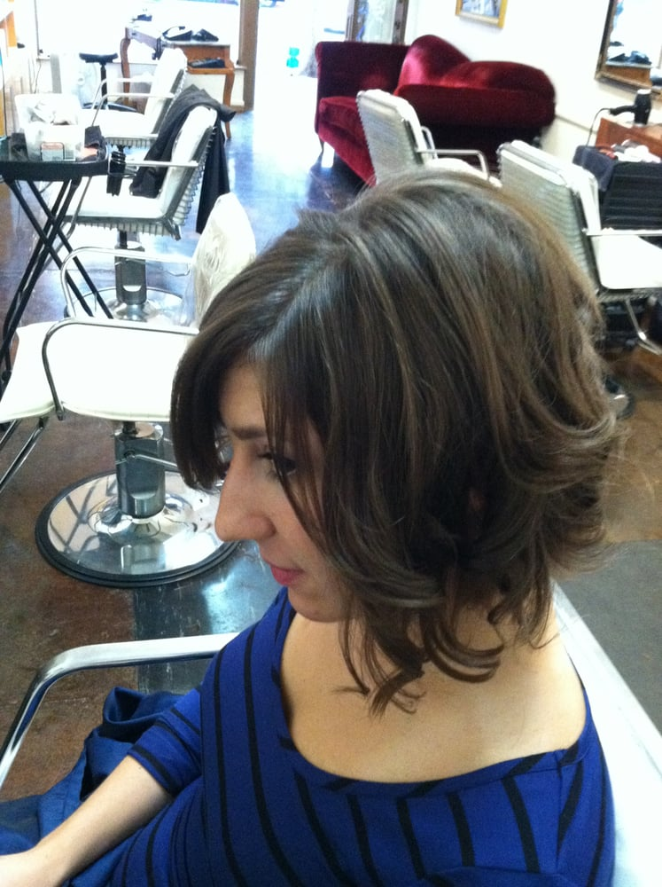 ... Loft - Los Angeles, CA, United States. Curly Toussled Inverted Bob