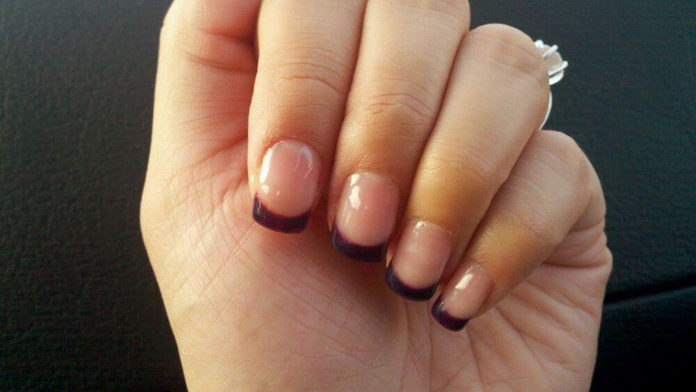 iSPA Nail Salon - Purple tip shellac nails - San Jose, CA, United