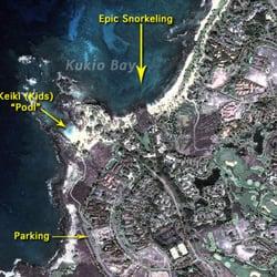 Kuki'o Beach - Hawaii, HI, États-Unis. Kukio Bay Aerial Photo
