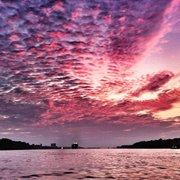 Die Elbe im Sonnenuntergang!