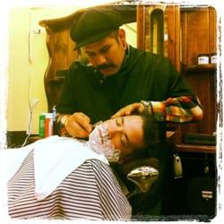 Barber Shop In Long Beach : Razorbacks Barber Shop - Jesse old school shaving - Long Beach, CA ...