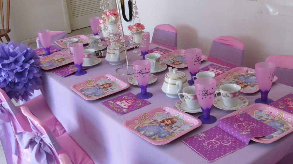 Sofita The First Princess Theme Birthday Party Table Set Up Decoration Ideas Centerpieces