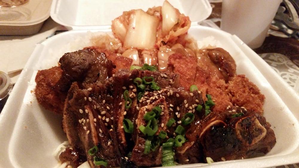 Kalbi Combo With Katsu And Teri Chicken Kimchee In Da