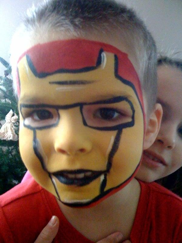 Iron Man Face Paint Face Painting Iron Man
