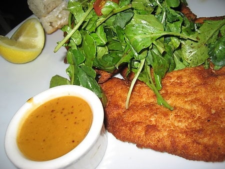 Crispy Chicken Milanese with Arugula Salad and Cherry ...