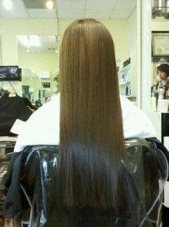Milbon Liscio Hair Straightening Done 5 13 After Entire