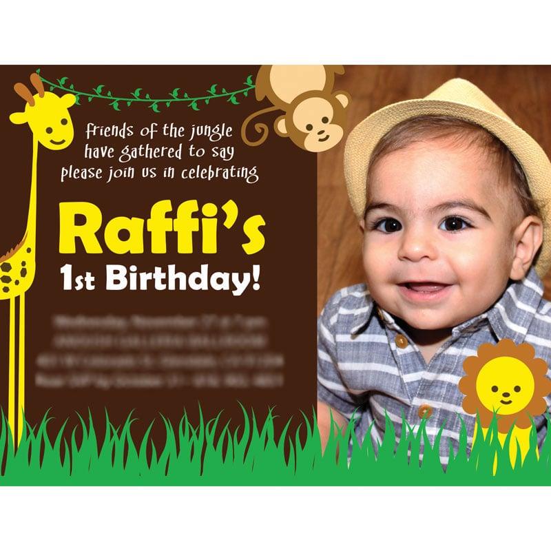 1st Birthday Logo 1st Birthday Card Design