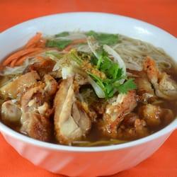 Soupe Pho Ga au poulet grillé