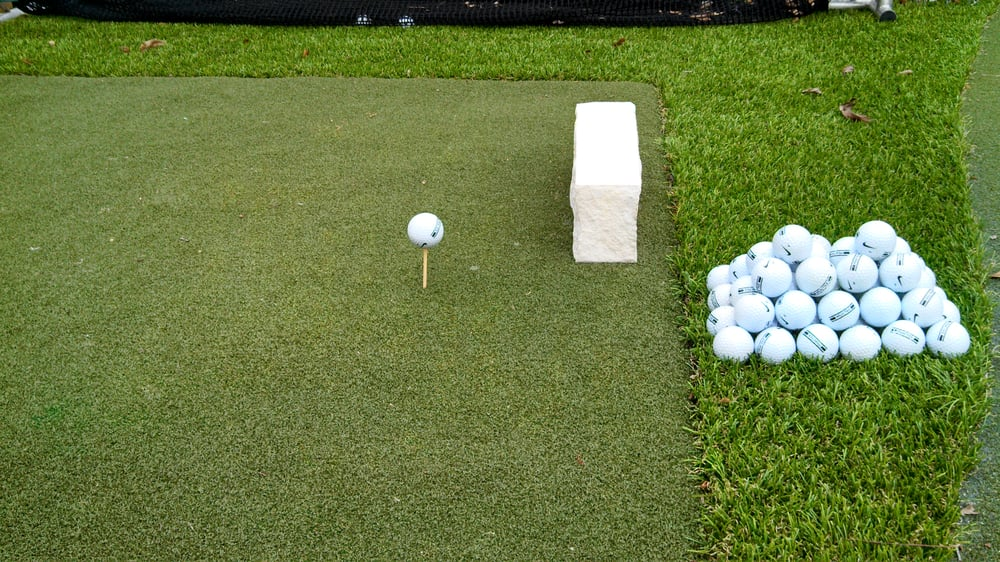 united states backyard golf putting green driving range mat and net