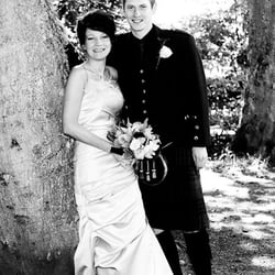 wedding photography taken at Ness Islands after a ceremony at the Archive Centre Inverness