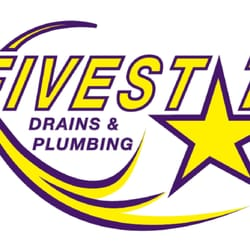 Five Star Drains & Plumbing logo