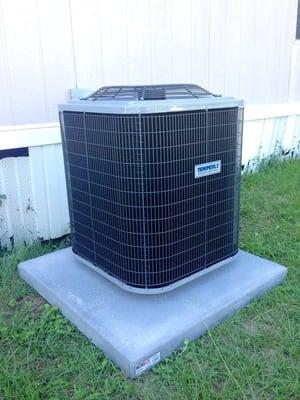 Allen s air conditioning heating hvac brenham tx for Air conditioner slab