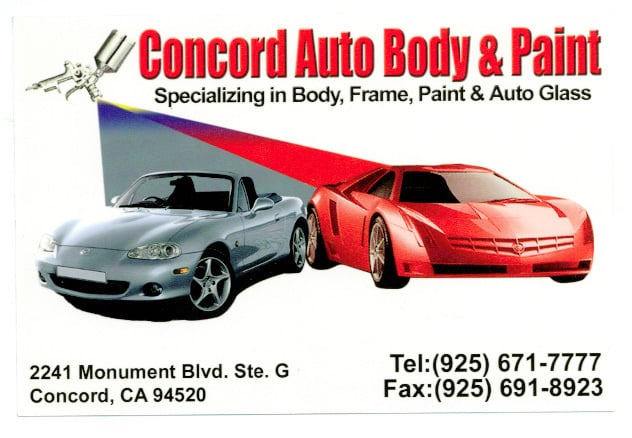 Concord auto body paint panel beaters paint services for Painted auto body parts reviews