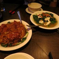 pork meatballs, snow pea shoots with…