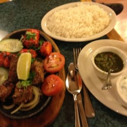 afghan cuisine banquet hall sizzling plate of tikkah