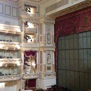 Blick vom 3. Rang zur Bühne/Seite