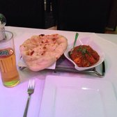 Chicken naga curry (very spicy... Yum), nan bread and a pint of cobra beer :-)