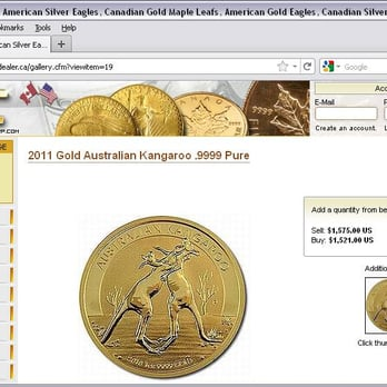 Suisse Gold - Blaine, WA, États-Unis. BUYER BEWARE - another SCAM! Coin pictured is the sold out 2010 Fighting Kangaroo. SCG is actually selling the 2011 coin.