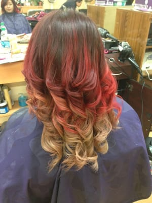 Tri color fire ombre yelp