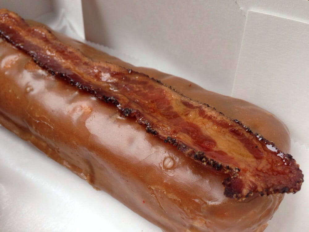 maple bacon maple glazed bacon long john other names edit maple bacon ...