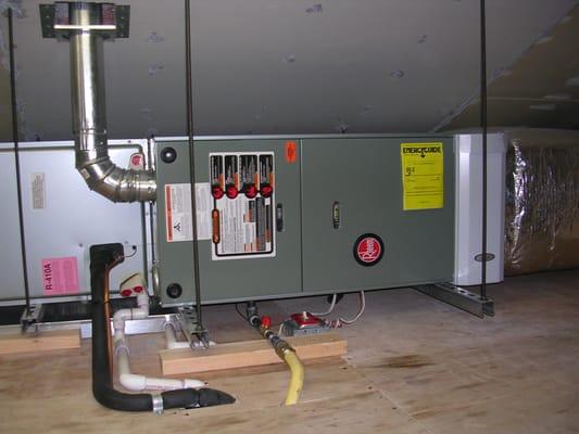Rheem Horizontal Warm Air Furnace With Central Air