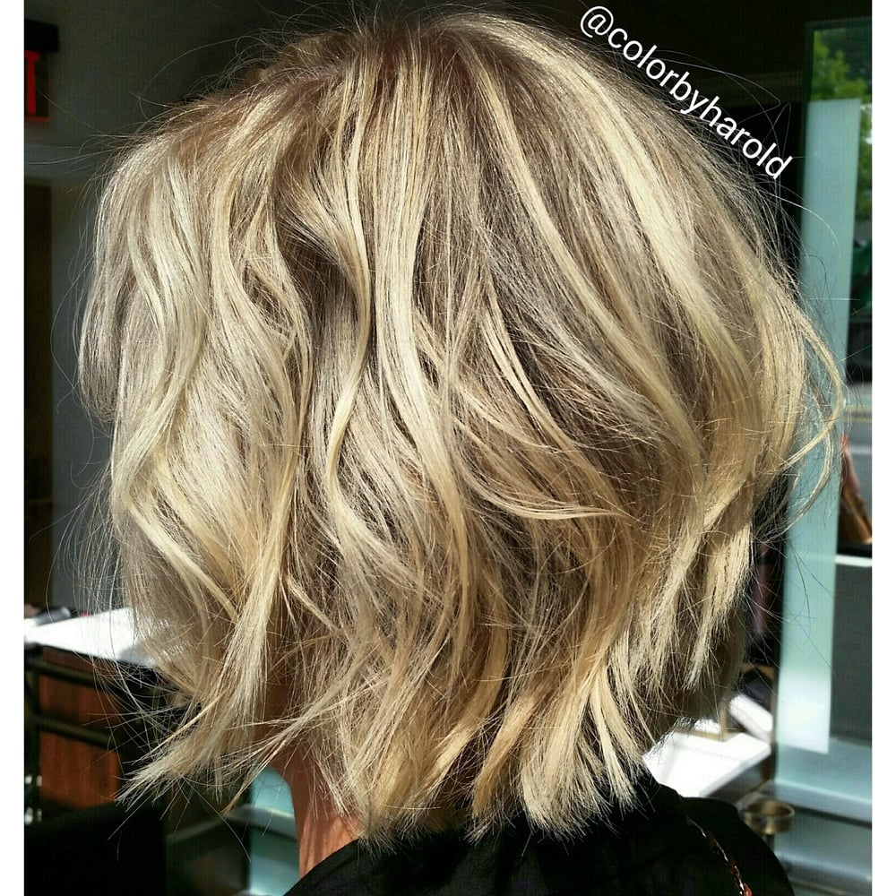 Dark Golden Ash Blonde with Highlights