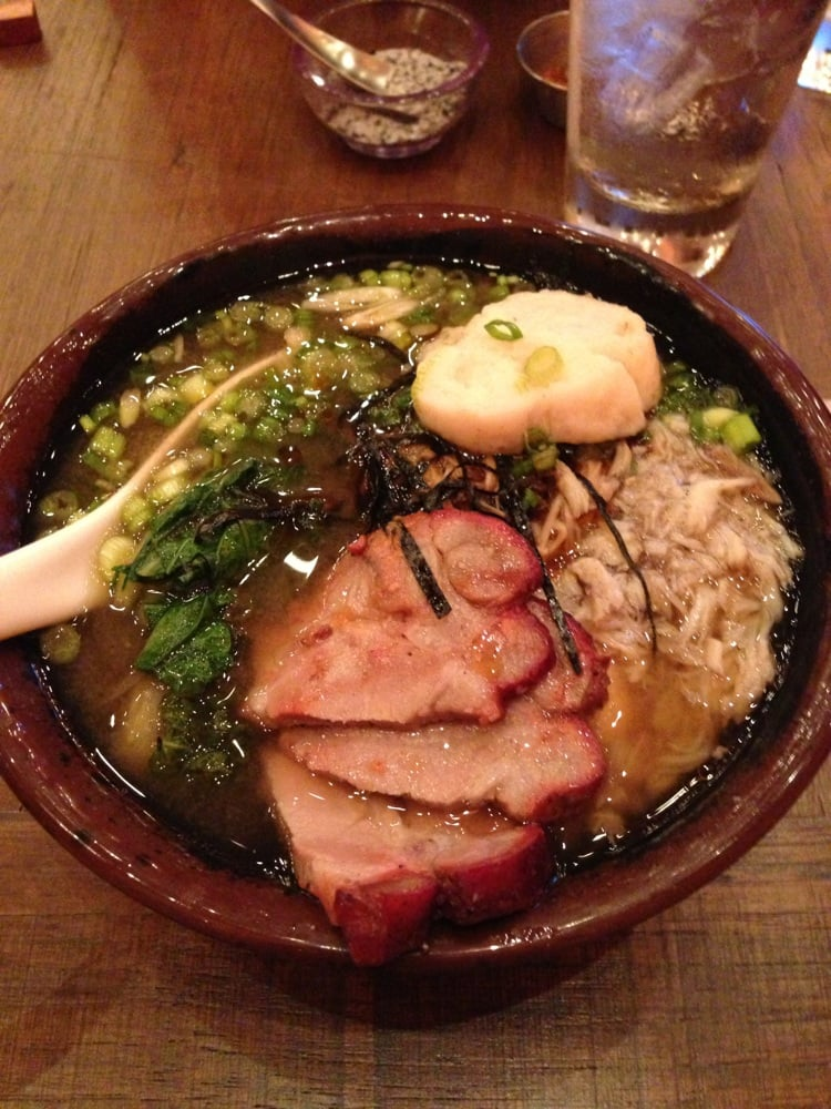 ... crabmeat, fish cake and egg with white miso soup) with char sui | Yelp