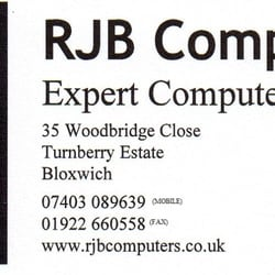 Rjb Computers, Walsall, West Midlands, UK