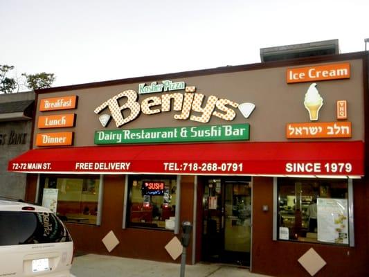 Benjy S Kosher Pizza Dairy Restaurant Sushi Bar Kew Gardens Hills Flushing Ny Yelp
