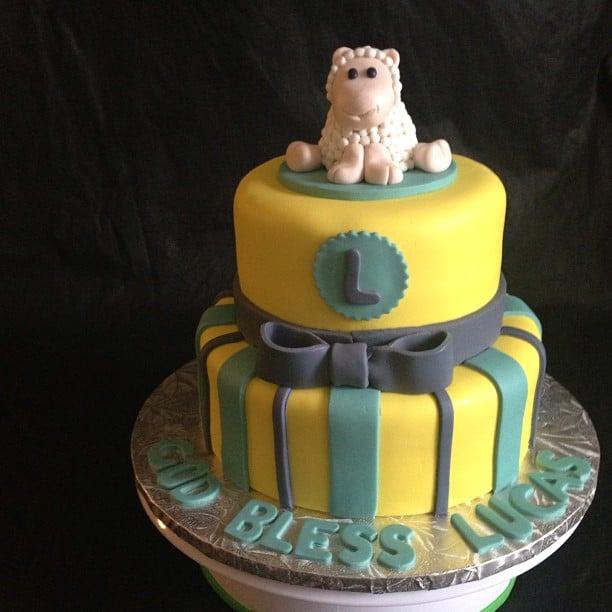 Cake And Art Yelp : Baptism Cake Yellow and Green Theme Yelp