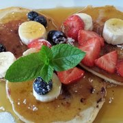 Pancakes with blueberries, bannanas &…