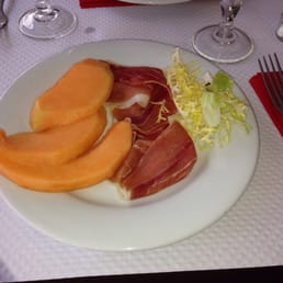Minced melon and country ham