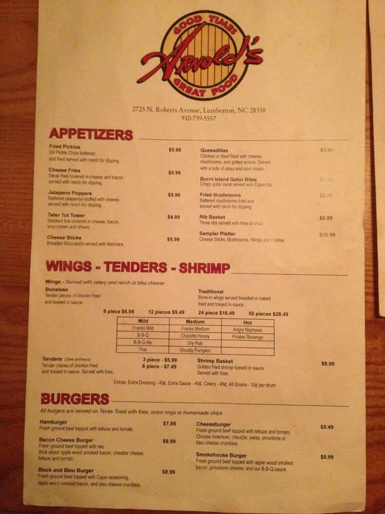 Lumberton (NC) United States  city pictures gallery : Arnolds Good Times Great Food Lumberton, NC, United States