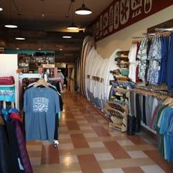 Clothes stores. Surfer clothing stores