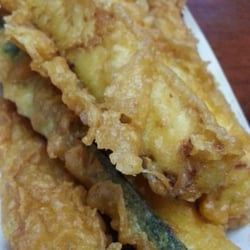 H salt fish chips fried fish and zucchini temple for H salt fish chips
