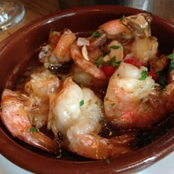 Gambas al ajillo (prawns with chili & garlic)
