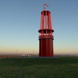 Halde Rheinpreussen - Geleucht, Moers, Nordrhein-Westfalen