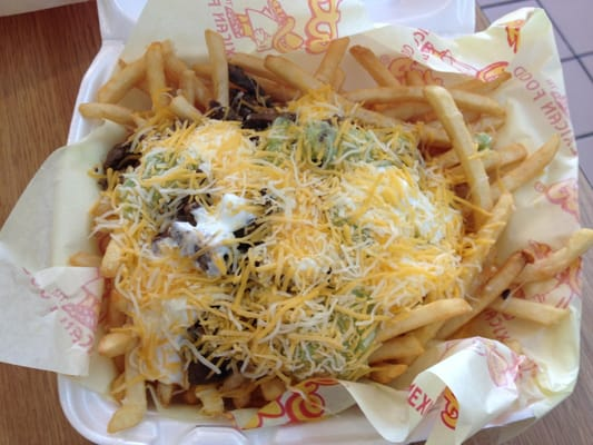 Alberto's Mexican Food - Carne Asada fries (small) - Van Nuys, CA ...