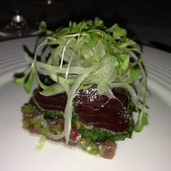 Seared yellowfin tuna and tartare