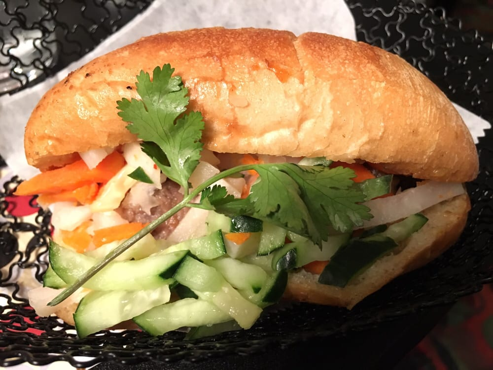 Grilled beef banh mi yelp for V kitchen ann arbor address