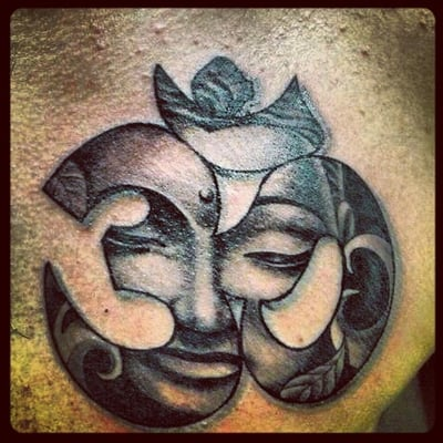 Ohm buddha tattoo done at double cross tattoo yelp for Handcrafted tattoo shop fort lauderdale
