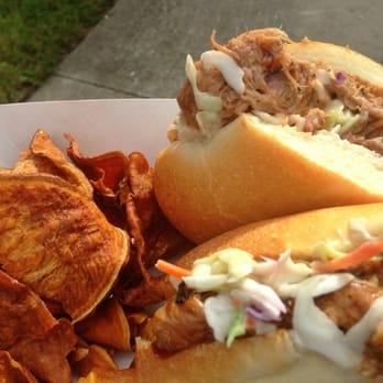... Wiches - Tampa, FL, United States. Bourbon Mango Pulled Pork Sandwich