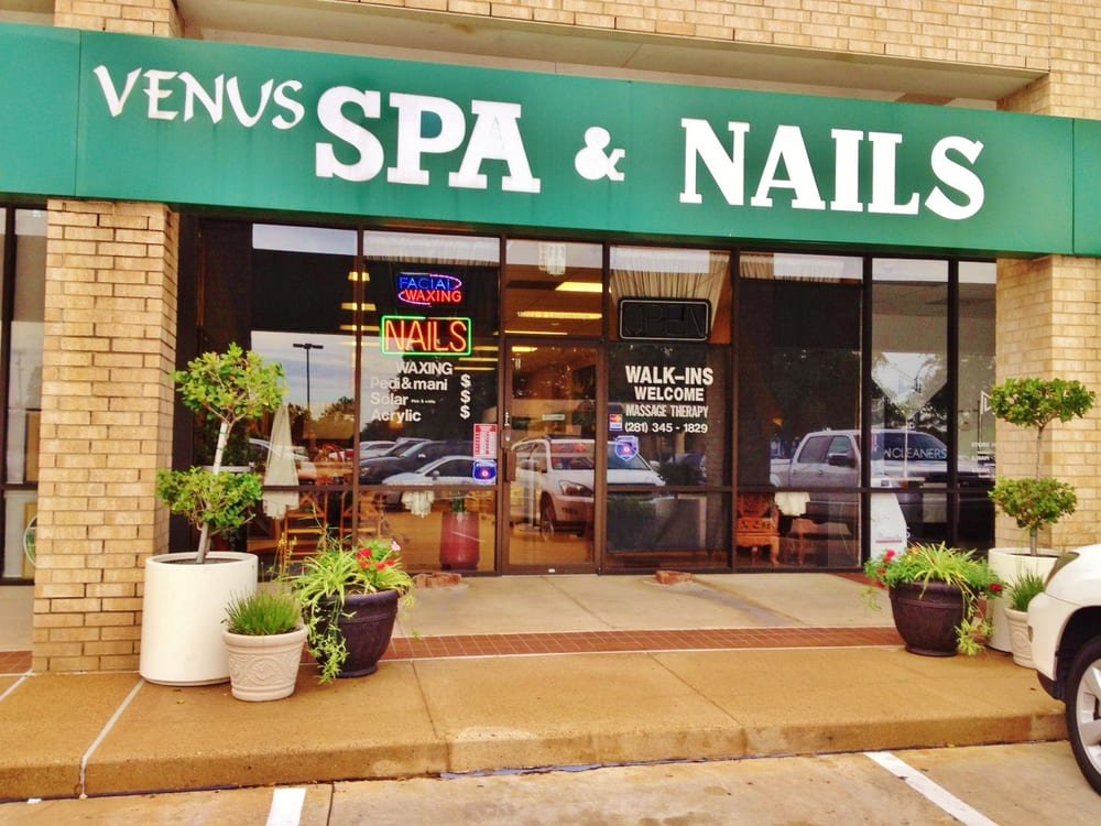 Venus nails spa nail salons houston tx yelp for 24 hour nail salon queens ny
