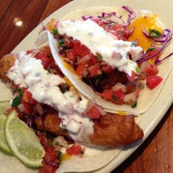 Fried fish taco and fried oyster tacos. Kari C. tarafından