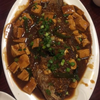 Dumpling House - Braised Yellow Fished with tofu on spicy bean sauce ...