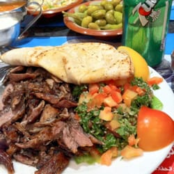 Lamb shawarma with tabouleh