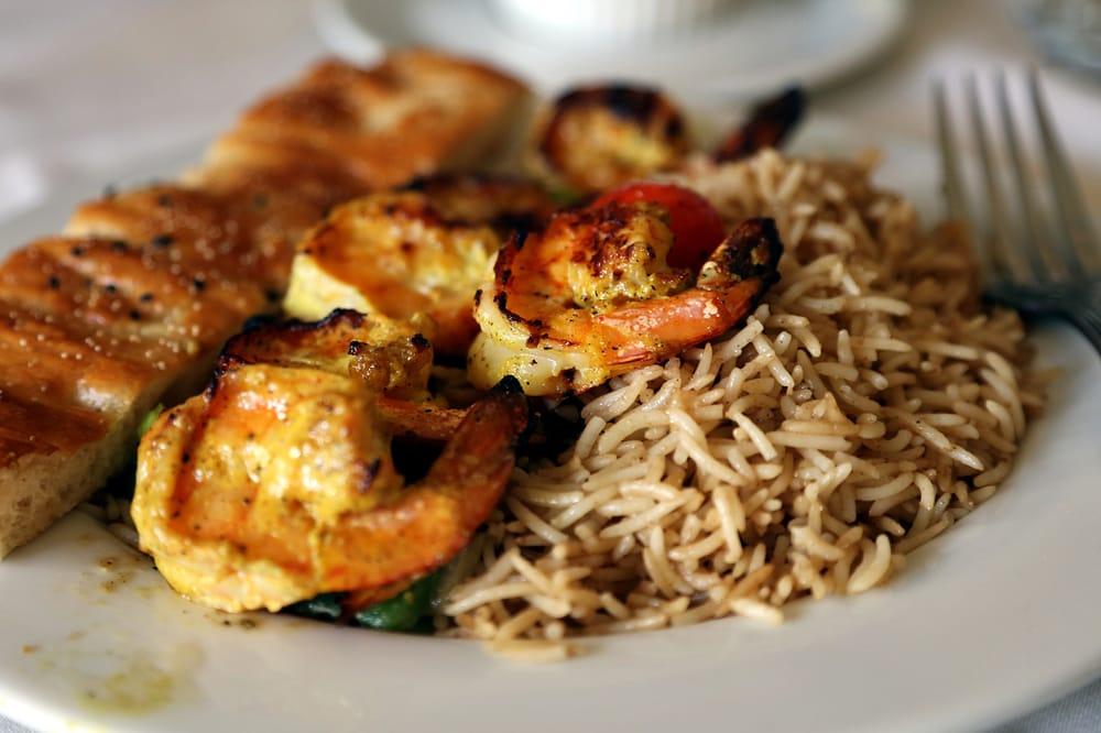 Shrimp kabob lunch yelp for Aryana afghan cuisine