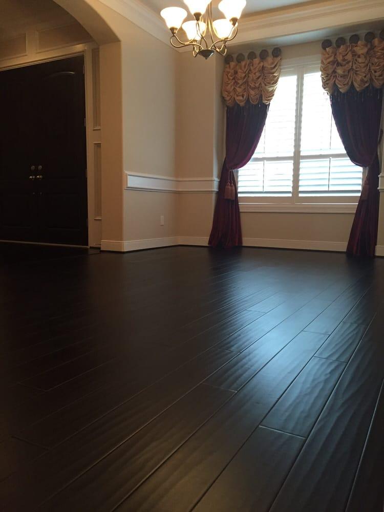 New flooring matches with hardwood entry professional job for Hardwood floors houston