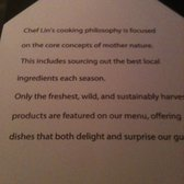 The Sea by Alexander's Steakhouse - Chef Lin's philosophy - Palo Alto, CA, Vereinigte Staaten