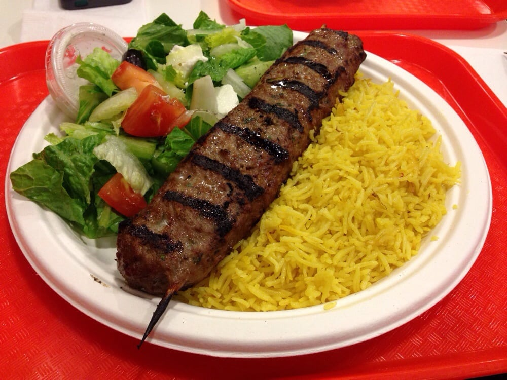 Beef Kabobs Plate Beef Kabob Plate With Saffron